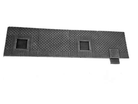 Sidewalk, square tiles – straight section(D),1:56 scale (28mm)