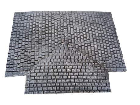 Cobblestone road – 3 way junction, 20mm 1:72 scale
