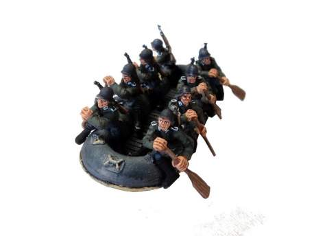 Second World War German Flossacke 34 crew, pack 1 1:56 (28mm)