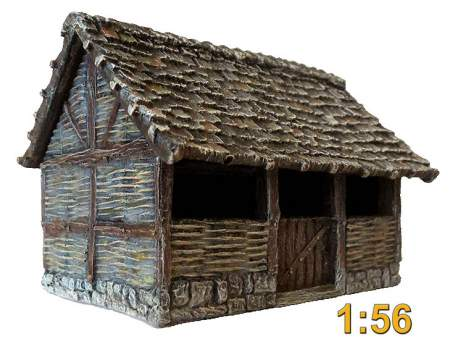 Medieval stable 1:56 (28mm)