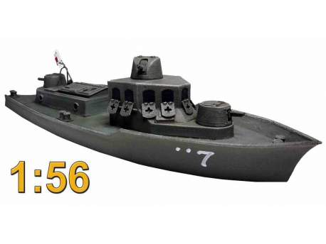 Japanese Armored Boat AB-Tei / Type C Landing Craft / Gunboat 1:56 (28mm)