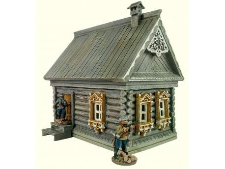 Russian log house 1:56 (28mm)