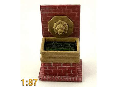 Wall fountain, HO scale (1/87)