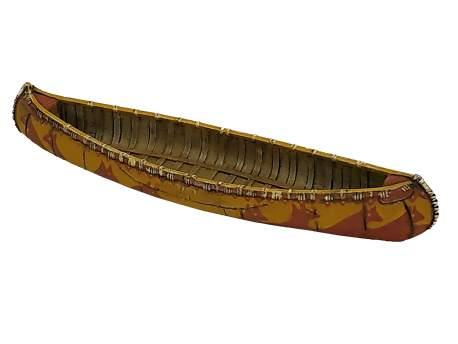 Birch Bark Canoe 1:56 (28mm)