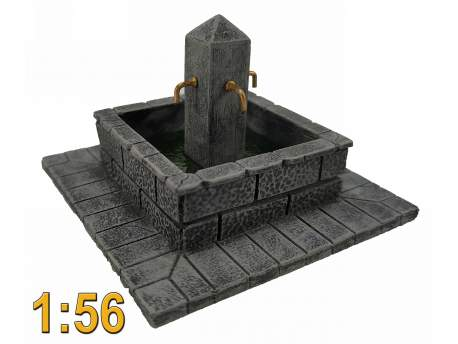 Fountain, 28mm, 1/56 scale